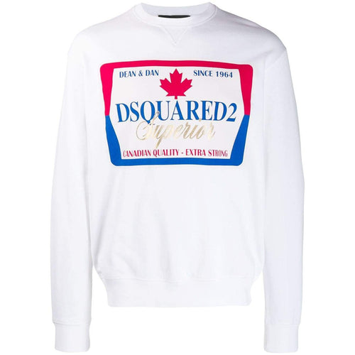 DSQUARED2 Superior Sweatshirt, White-OZNICO