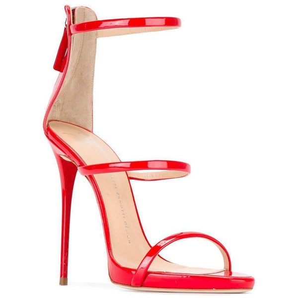 8482ce9819e GIUSEPPE ZANOTTI Harmony 120mm Three Strap Sandal, Red