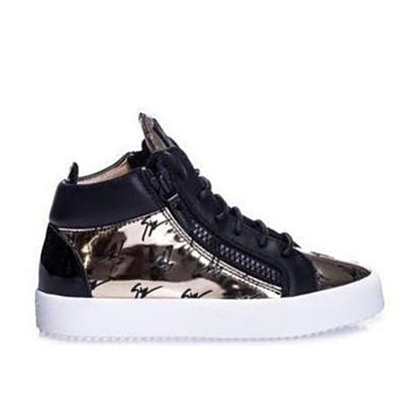 GIUSEPPE ZANOTTI Gail Metallic Low Top Women's Sneaker, White/ Gold