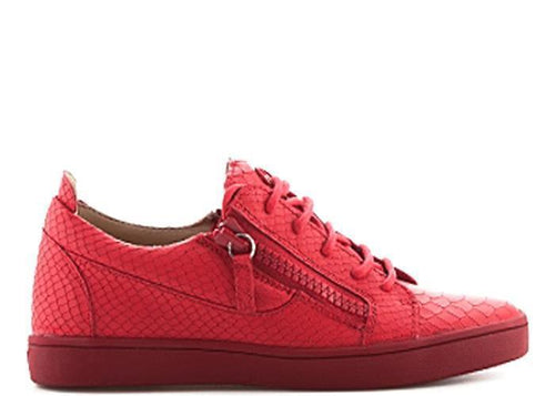 GIUSEPPE ZANOTTI Womens Nicki Embossed Leather Sneaker, Red-OZNICO
