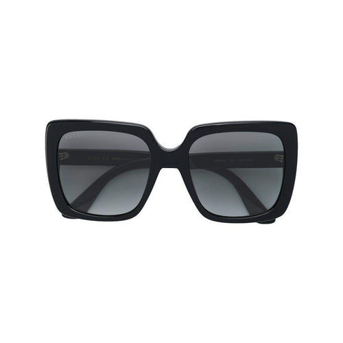 GUCCI Mass Large Square Sunglasses, Black-OZNICO