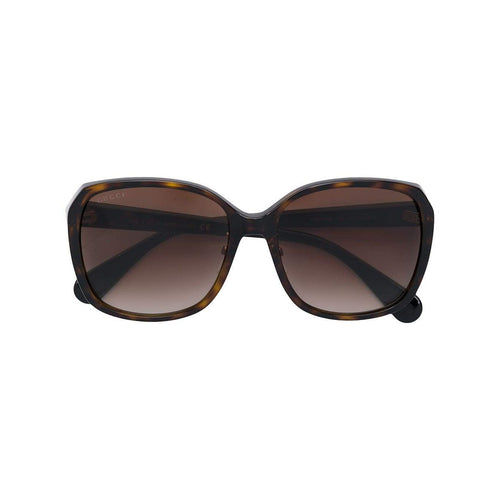 GUCCI Square Sunglasses, Brown Tortoise-OZNICO