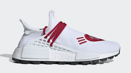 ADIDAS X PHARRELL WILLIAMS HU NMD Human Made, White/ Red