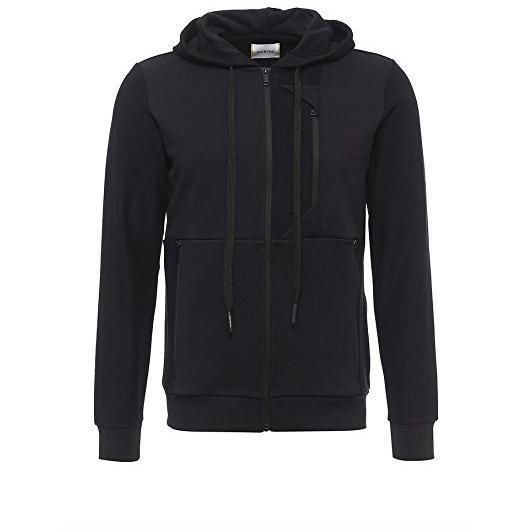 ICEBERG Full Zip Logo Hooded Sweatshirt-OZNICO