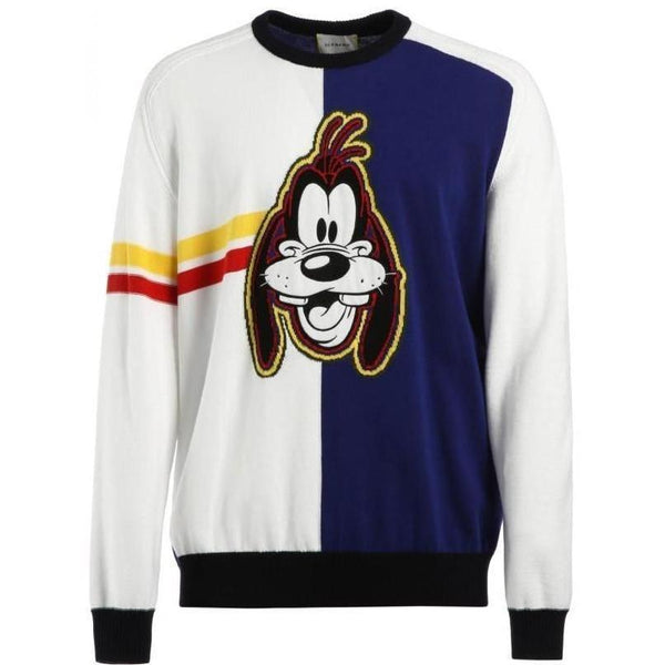 ICEBERG Goofy Knit Crewneck Sweater, White/ Multi-OZNICO