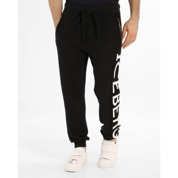 ICEBERG Jogging Bottoms With Maxi-logo, Midnight Blue-OZNICO