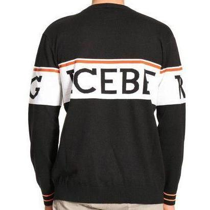 ICEBERG Knit Sweater, Black-OZNICO