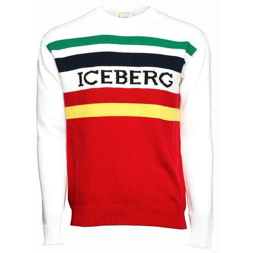 ICEBERG Logo Sweater, White/ Multi-OZNICO