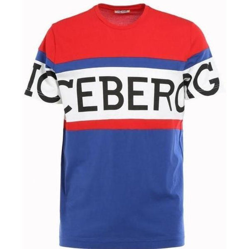 ICEBERG Logo T-Shirt, Electric Blue-OZNICO