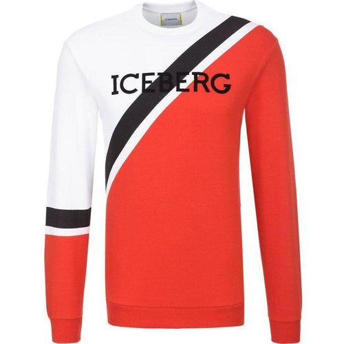 ICEBERG Multi Color Logo Sweatshirt, White/ Red-OZNICO