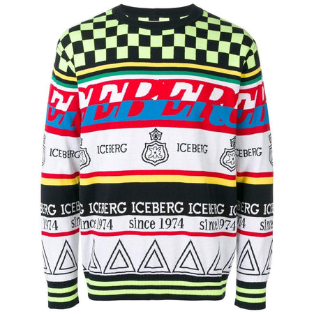 ICEBERG Oversized Knitted Goofy Sweatshirt, Black