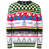 ICEBERG Multi-Knit Sweater, Multi-OZNICO