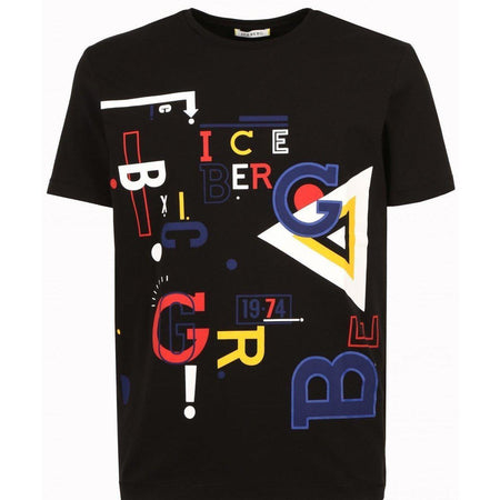 ICEBERG Mickey Mouse T-Shirt, Black