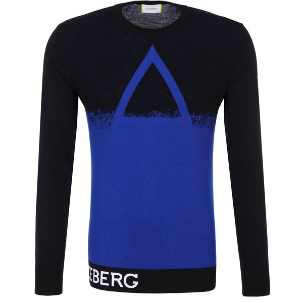 ICEBERG Pyramid Knit Sweater, Black-OZNICO