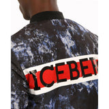 ICEBERG Reversible Short Down Bomber Jacket, Black/ Multi-OZNICO