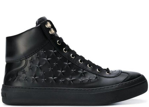 JIMMY CHOO Argyle High Top Sport Calf Trainer, Black-OZNICO