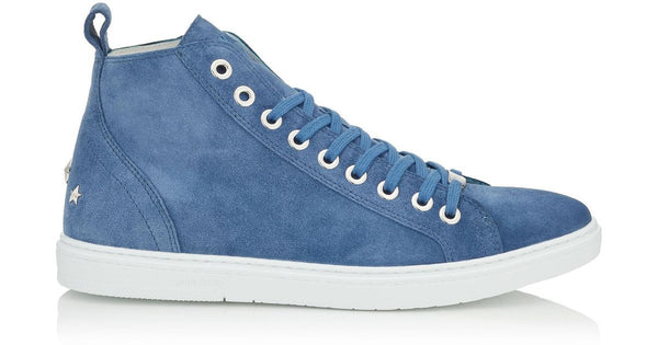 JIMMY CHOO Colt High Top Trainer, Suede Ocean-OZNICO