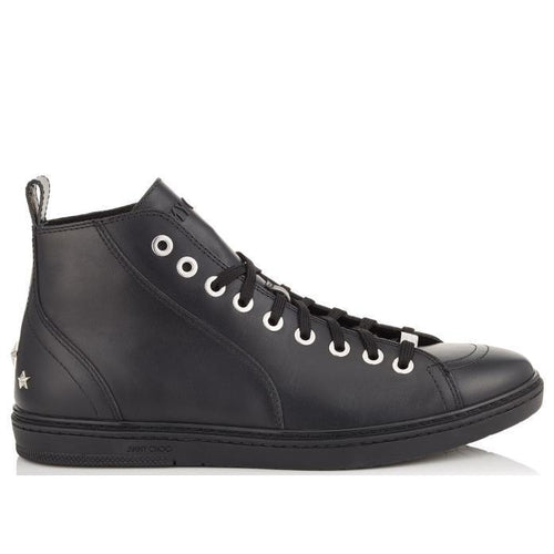 JIMMY CHOO Colt Sneaker, Black Smooth Calf-OZNICO