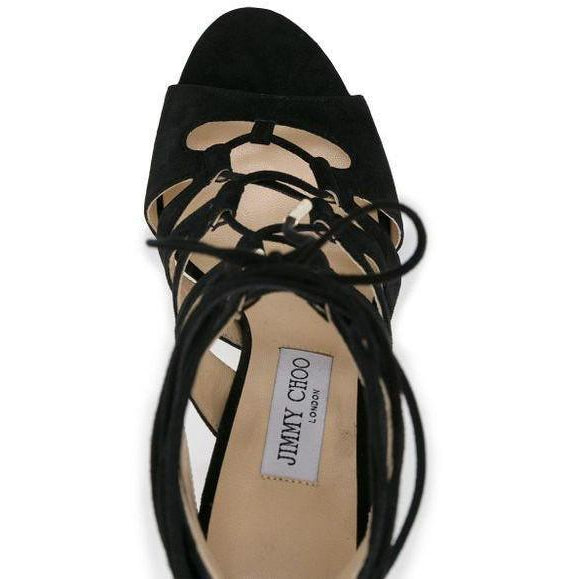 JIMMY CHOO Hitch 100 Sandals, Black-OZNICO