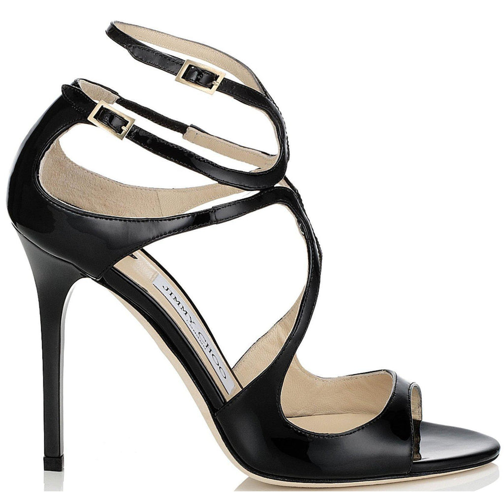 JIMMY CHOO Lang Patent Strappy Sandals