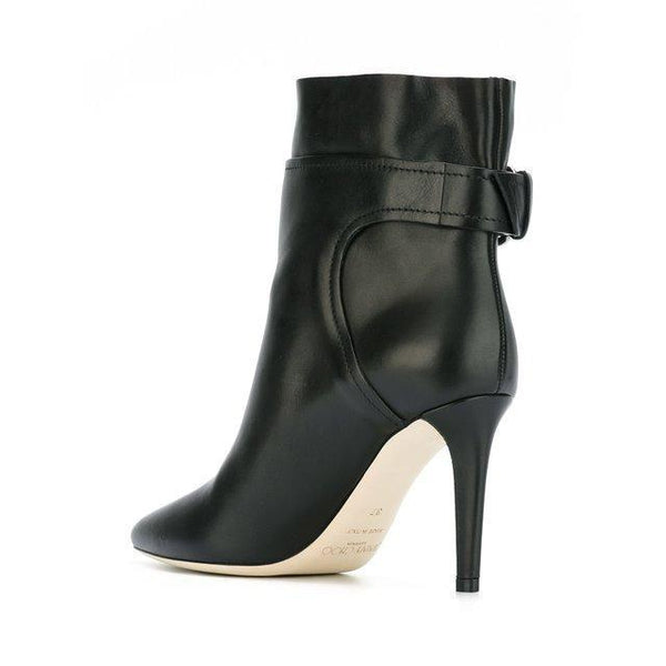 JIMMY CHOO Major 100 Ankle Boot, Black Soft Calf-OZNICO