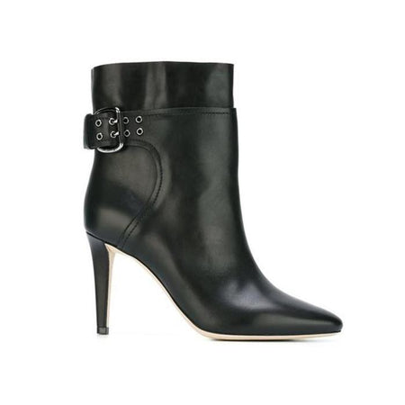 JIMMY CHOO Louella 100 Ankle Boot, Black Crushed Stretch Velvet