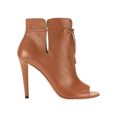 JIMMY CHOO Memphis 100 Soft Leather Ankle Bootie, Canyon-OZNICO