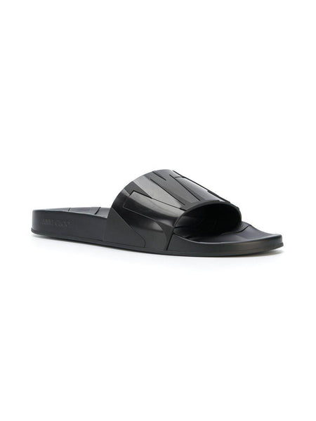JIMMY CHOO Rey Slides, Black-OZNICO