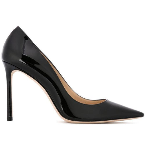 JIMMY CHOO Romy 100 Pumps, Black-OZNICO