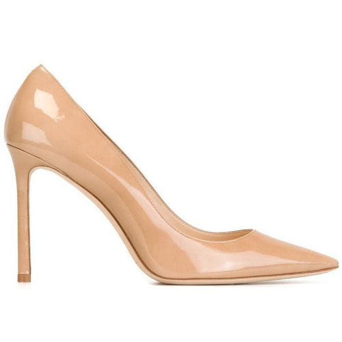 JIMMY CHOO Romy 100 Pumps, Nude-OZNICO