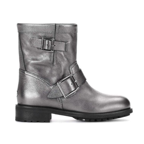 JIMMY CHOO Women's Youth Ankle Boot, Anthracite-OZNICO