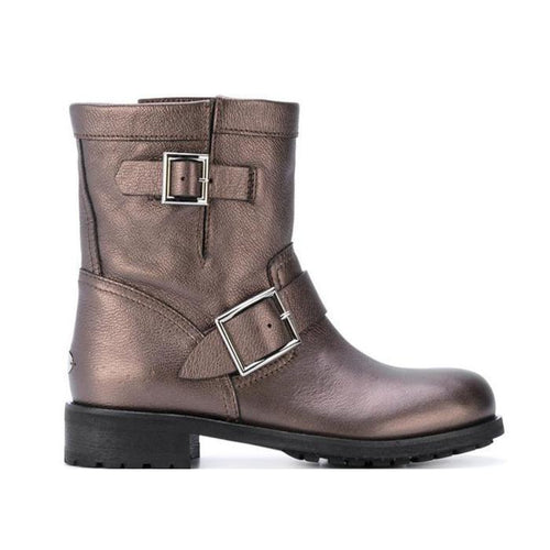 JIMMY CHOO Women's Youth Ankle Boot, Bronze-OZNICO