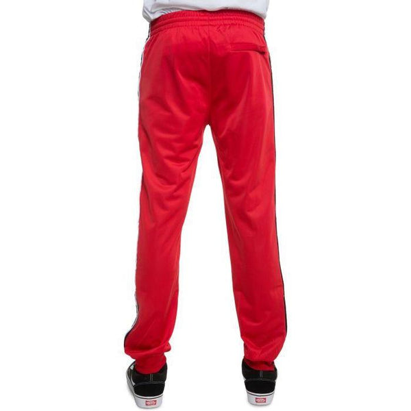 KAPPA 222 Alternating Banda Rastoriazz Trackpant, Red/ Black/ White-OZNICO