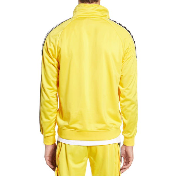 KAPPA 222 Banda Anniston Alternating Track Jacket, Yellow/ Black/ White-OZNICO