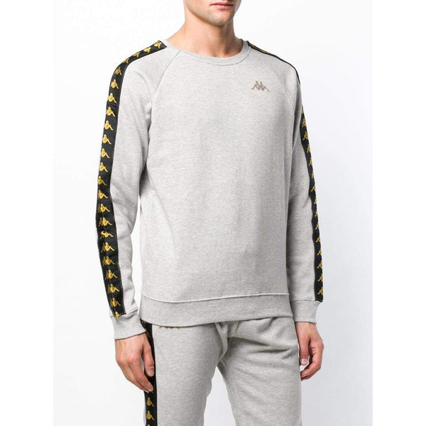KAPPA 222 Banda Arit Slim Fit Sweatshirt, Grey-OZNICO