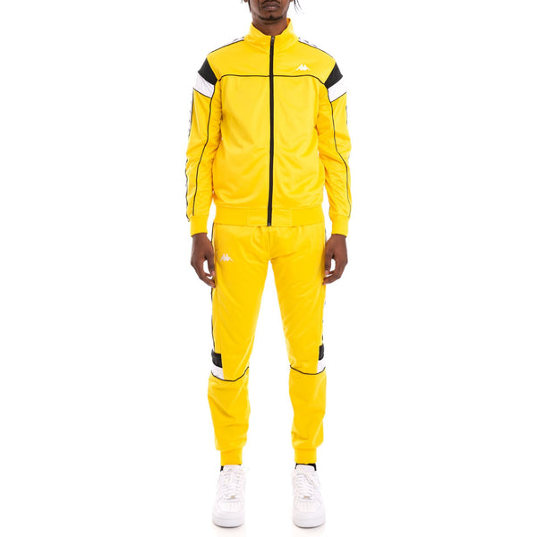 KAPPA 222 Banda Memzz Trackpant, Yellow/ Black/ White-OZNICO