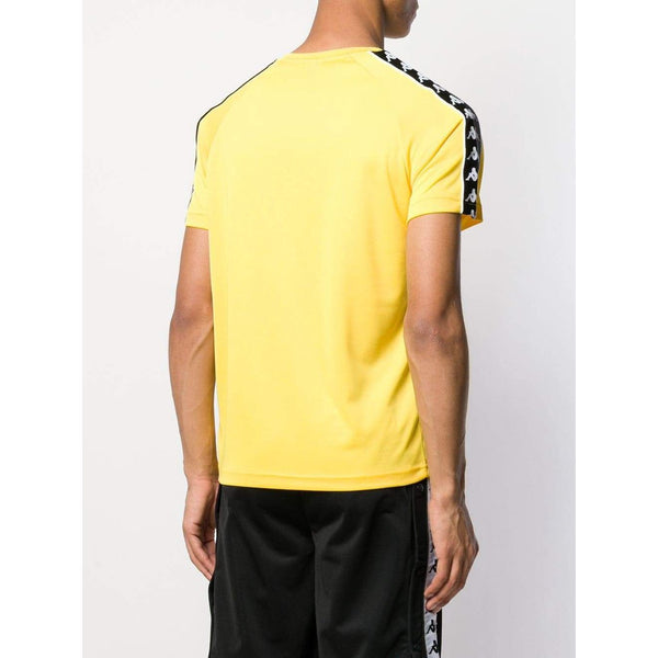 KAPPA Banda Coen Alternating T-Shirt, Yellow/ Black/ White-OZNICO