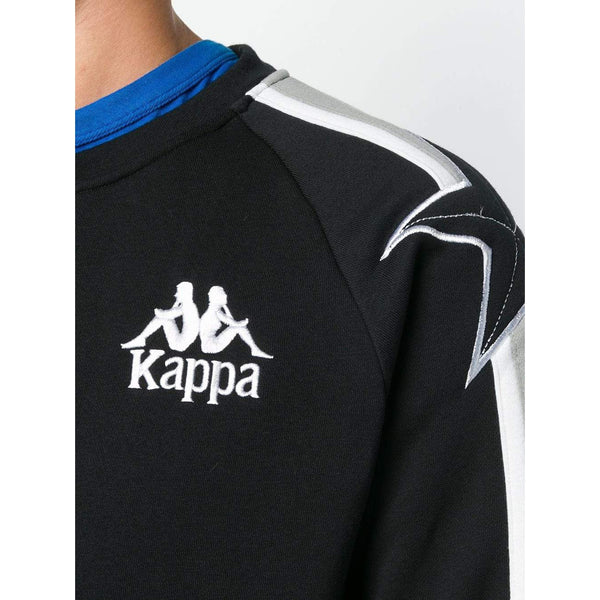 KAPPA Embroidered Logo Sweatshirt, Black-OZNICO