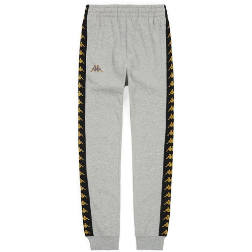 KAPPA Slim Fit Logo Sweatpants, Grey-OZNICO