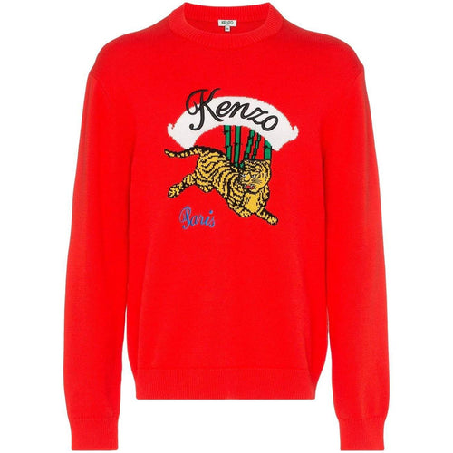 KENZO Bamboo Tiger Sweater, Medium Red-OZNICO