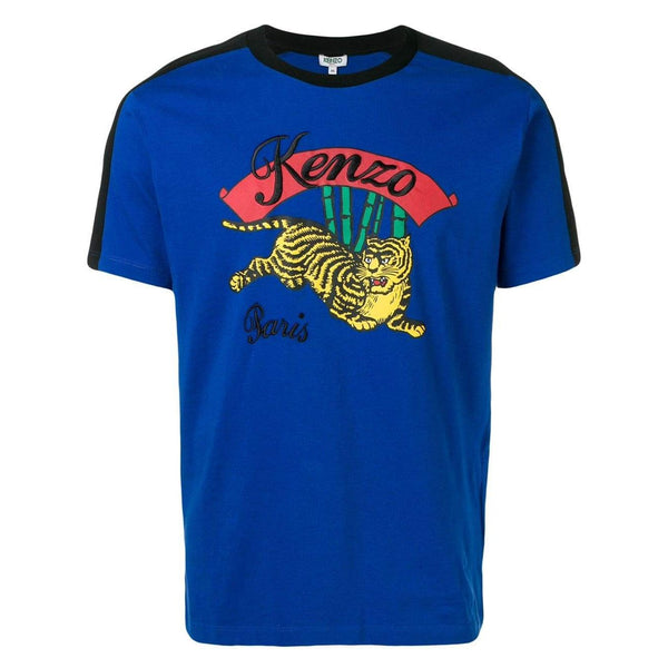 KENZO Bamboo Tiger T-Shirt, French Blue-OZNICO