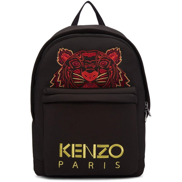 KENZO Chinese New Year Tiger Neoprene Backpack, Black-OZNICO