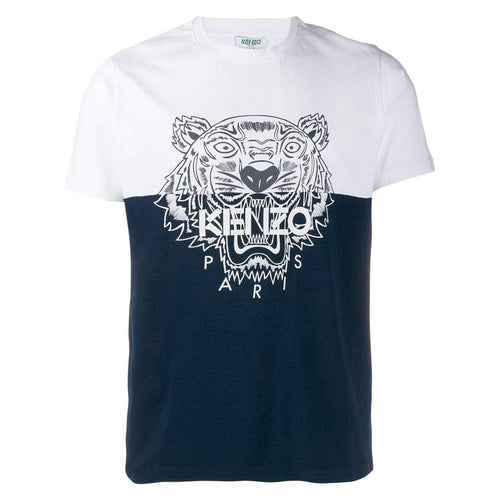 KENZO Color-Block Tiger T-Shirt, Midnight Blue-OZNICO
