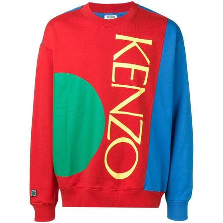 KENZO Intarsia Eye Sweater, French Blue