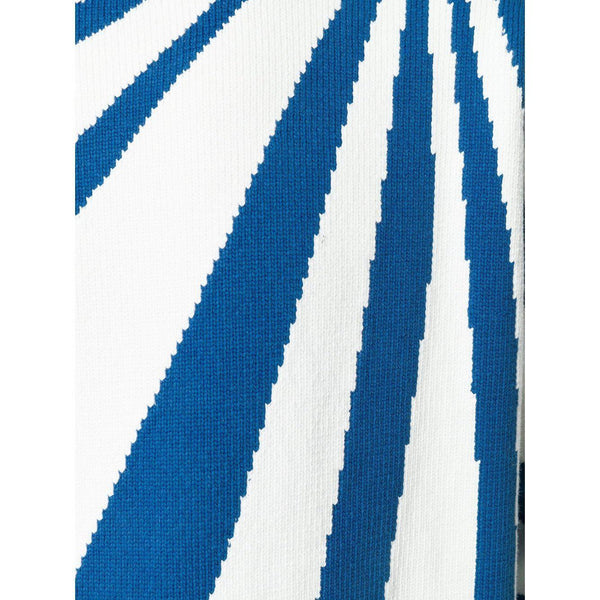 KENZO Cotton Striped Sweater, White/ Blue-OZNICO