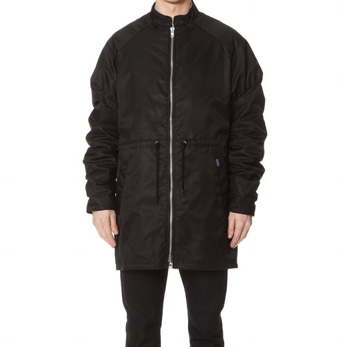 KENZO Elongated Bomber Jacket, Black-OZNICO