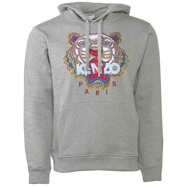 KENZO Hooded Tiger Sweatshirt, Dove Grey-OZNICO