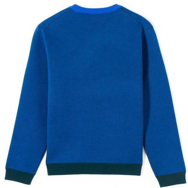 KENZO Intarsia Eye Sweater, French Blue-OZNICO