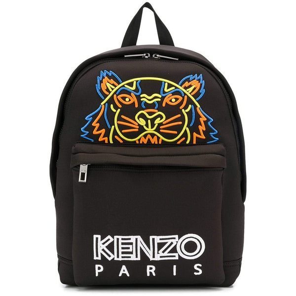 KENZO Large Embroidered Tiger Neoprene Backpack, Black-OZNICO