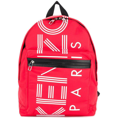 KENZO Large Sport Backpack, Medium Red-OZNICO